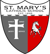St. Mary's Catholic School seeks God's will as we love, encourage and educate all students in the Catholic faith, helping them to reach their highest potential in spirit, mind, body and service.
