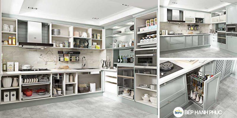5 Mẫu Kệ Bếp, Tủ Bếp Bằng Nhựa PVC Đẹp 2