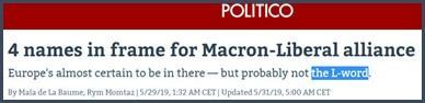 Politico 4 noms pour l'alliance Macron-libéraux au Parlement européen