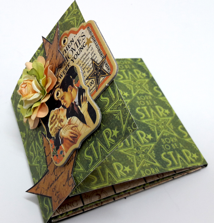 One Page Wonder Mini Album, by Einat Kessler, Vintage Hollywood, Product by Graphic 45, photo 2.jpg