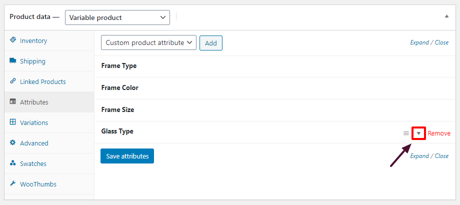 attribute fees WooCommerce