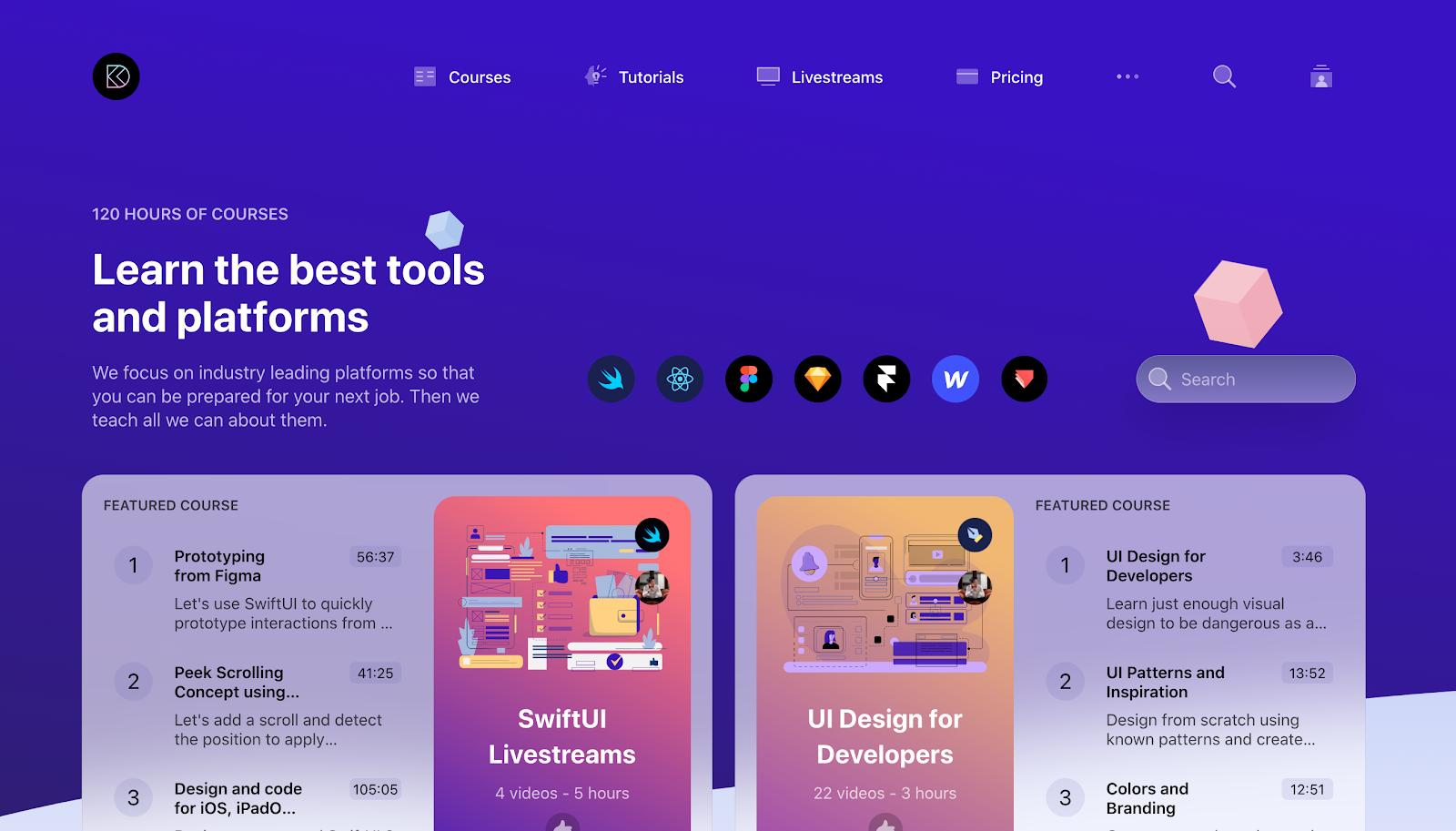Design+Code landing page