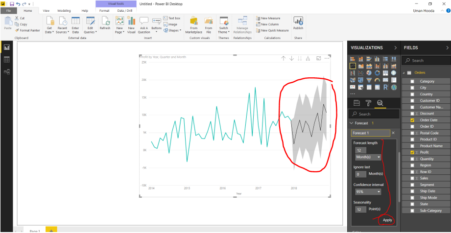 Forecast in Power BI 32