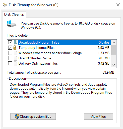 Select Disk Cleanup