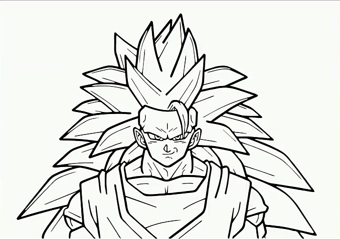desenho do goku colorir