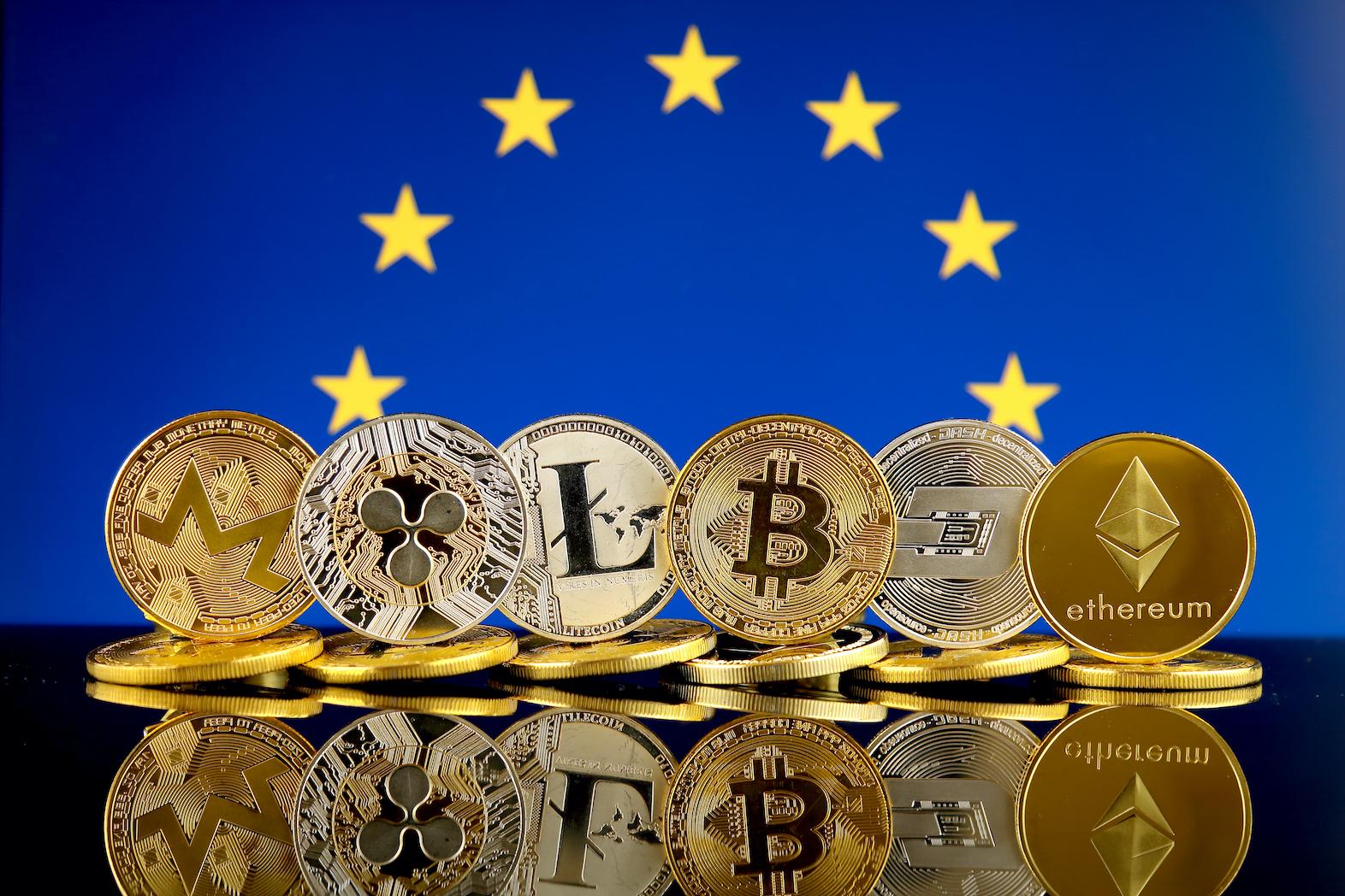 eu flag and crypto