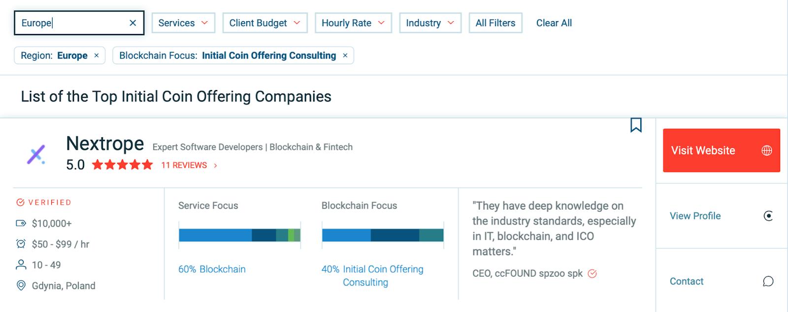 najlepszy blockchain software house