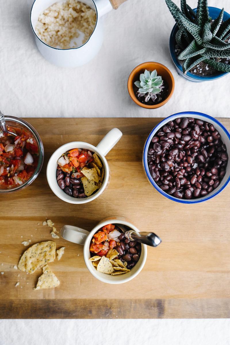 DIY burrito in a mug and succulents