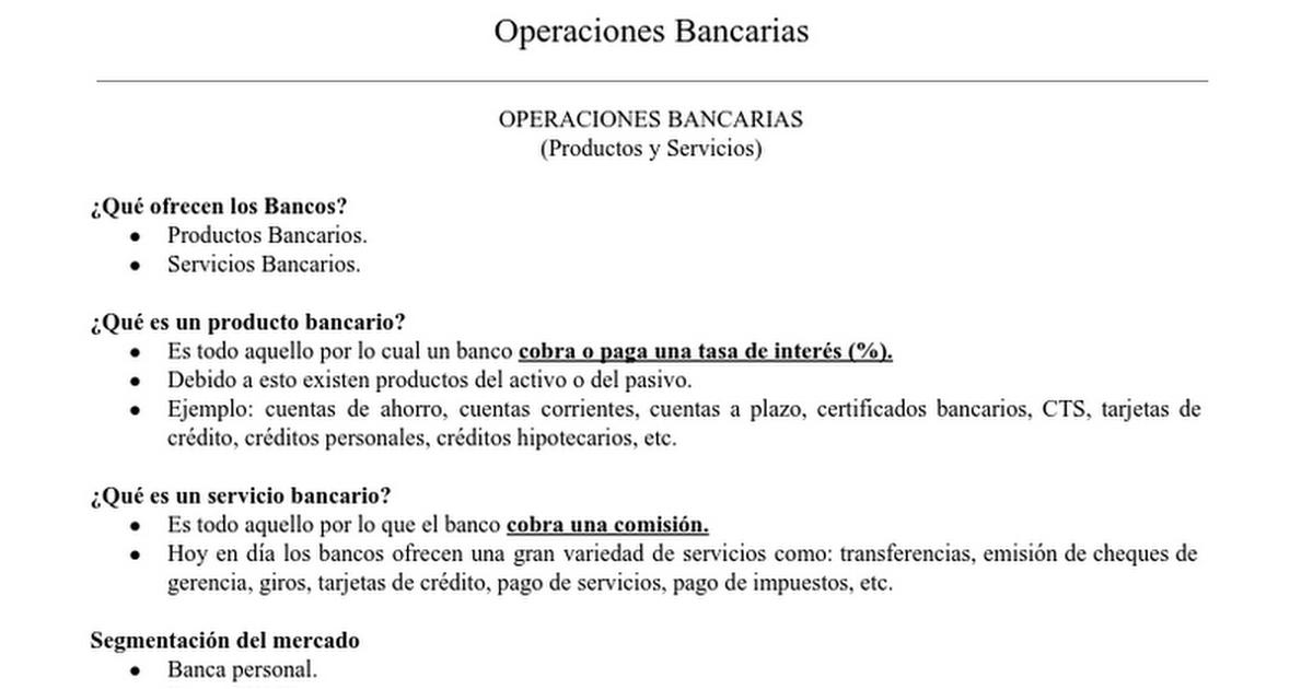 OPERACIONES BANCARIAS.docx - Google Docs