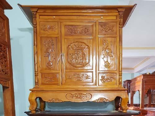 xem bàn thờ được làm bằng gỗ mít