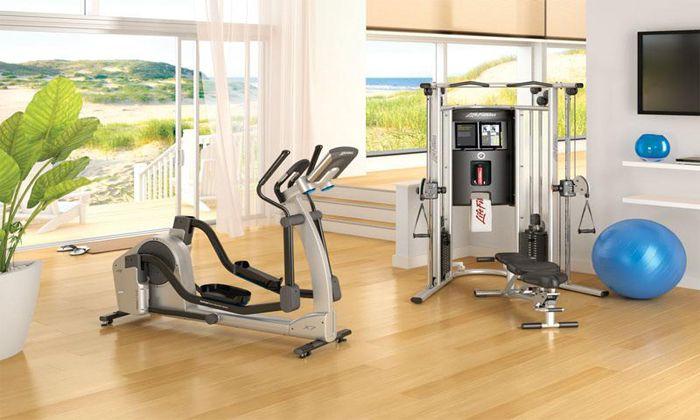 Phòng gym được thiết kế bắt mắt