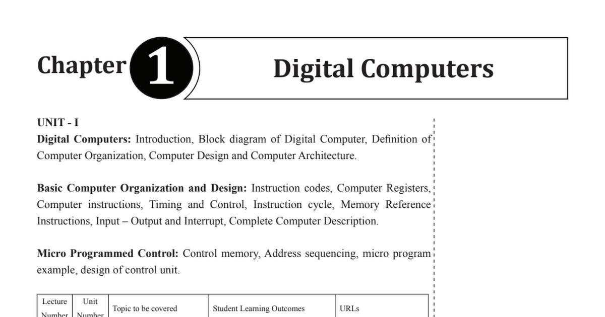 Unit 1 Computer Organization Pdf Google Drive