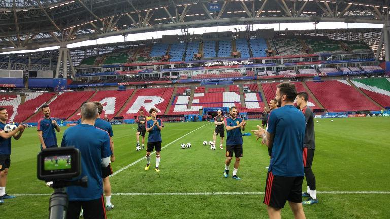 C:\Users\Carla\Desktop\Copa do Mundo 2018 - RUSSIA\Espnh\Espanha x Irã\Time em campo na Arena Kazan  Foto Getty Images FIFA.jpg