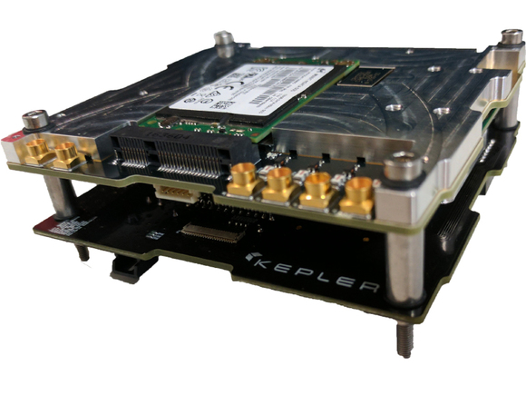 Kepler's custom-built software-defined radio (SDR) is an ultra-high-throughput communications payload
