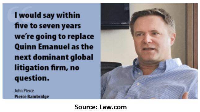 Pierce Bainbridge Litigation Finance Plays: The $1 Billion Lie and The $65 Million Debt 13