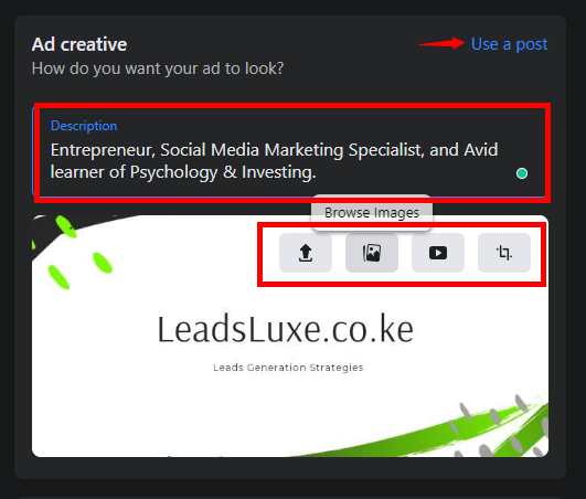 how to advertise on Facebook in Kenya