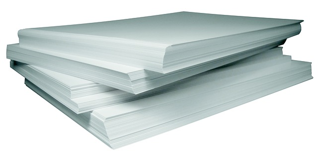 Paper, Stack, White