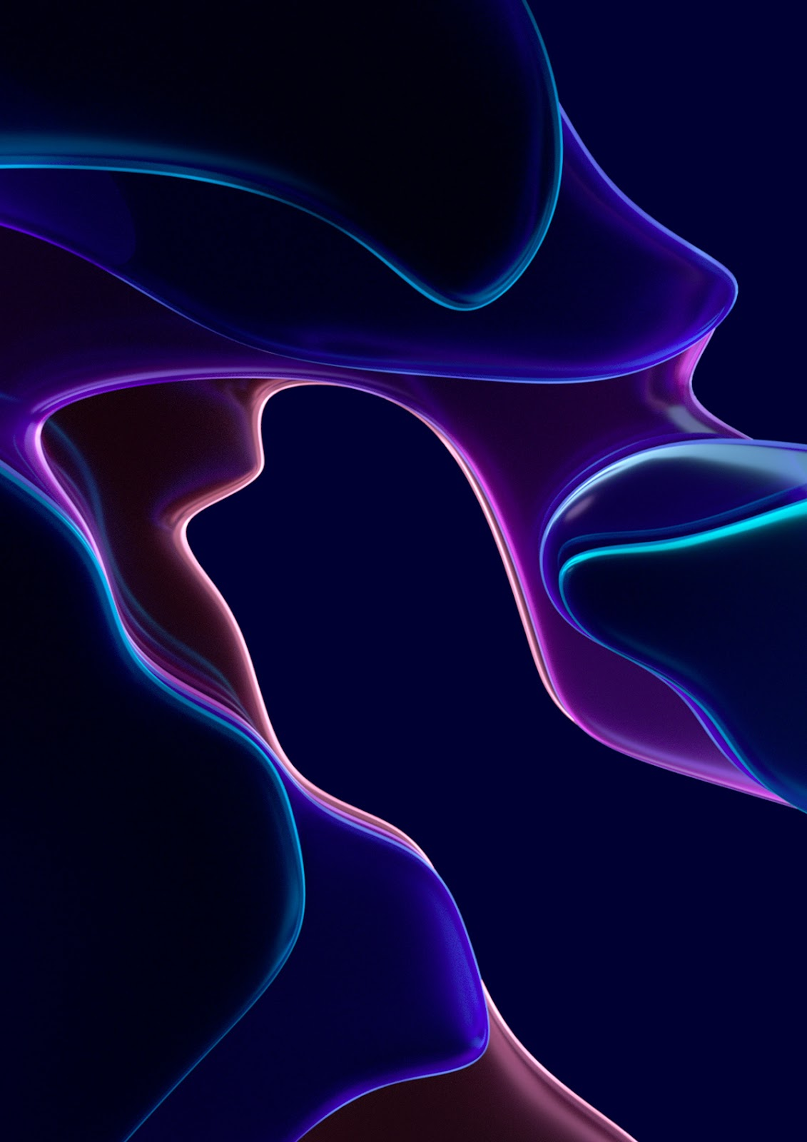 3D abstract curves flow keyvisuals tech Technology Wallpapers minimal shapes