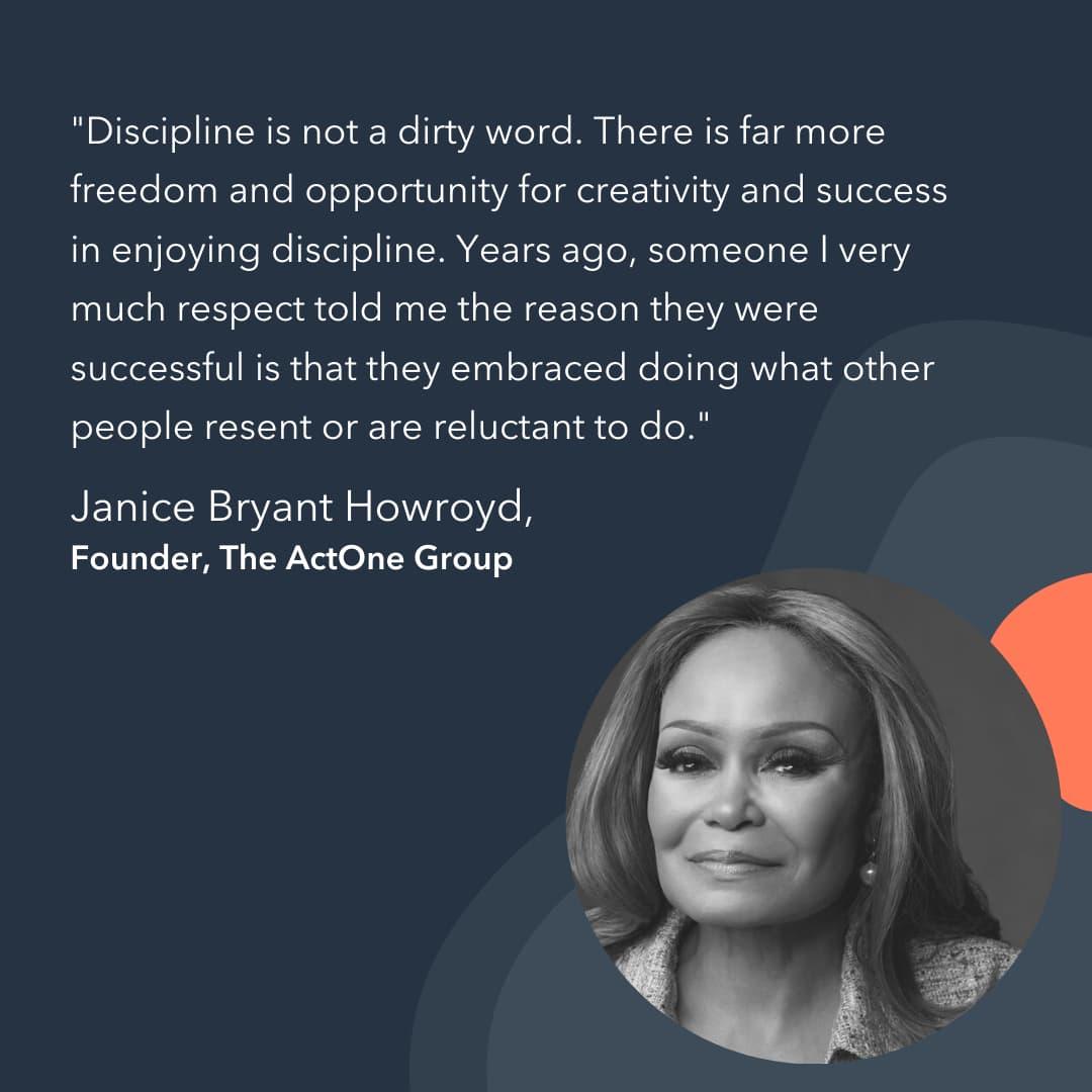 entrepreneur advice Janice Bryant Howroyd