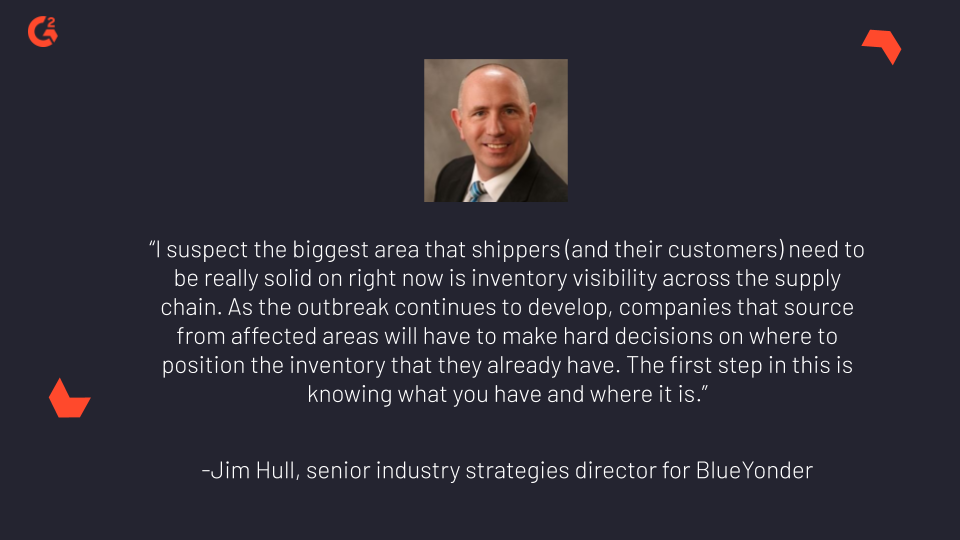 Quote by Jim Hull, senior industry strategies director for Blue Yonder