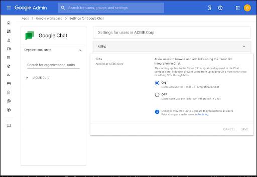 Nuevas funciones y configuraciones  Google Meet y Chat