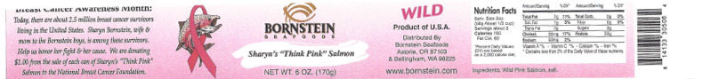 "Label, Bornstein Seafoods Sharyn's ""Think Pink"" Salmon"