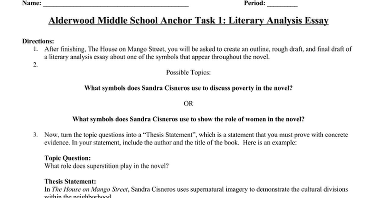 an analysis of the topic of the symbolism of the house on mango street by sandra cisneros View and download sandra cisneros essays examples house on mango street by sandra cisneros house is the symbol in the house of mango street.