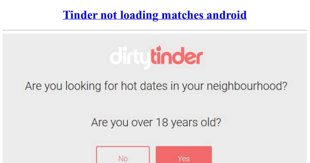 tinder not opening android