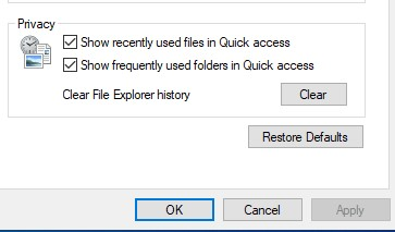 Show recently used files