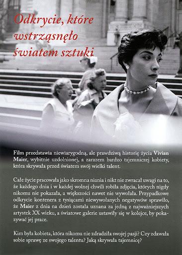 Tył ulotki filmu 'Szukając Vivian Maier'
