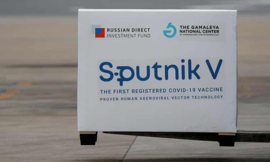 A package of Sputnik V vaccine