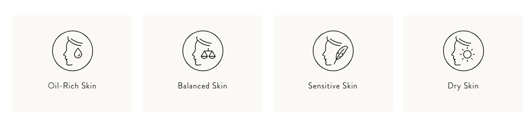 Primally Pure skin care categories