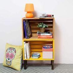 caixa de madeira quarto