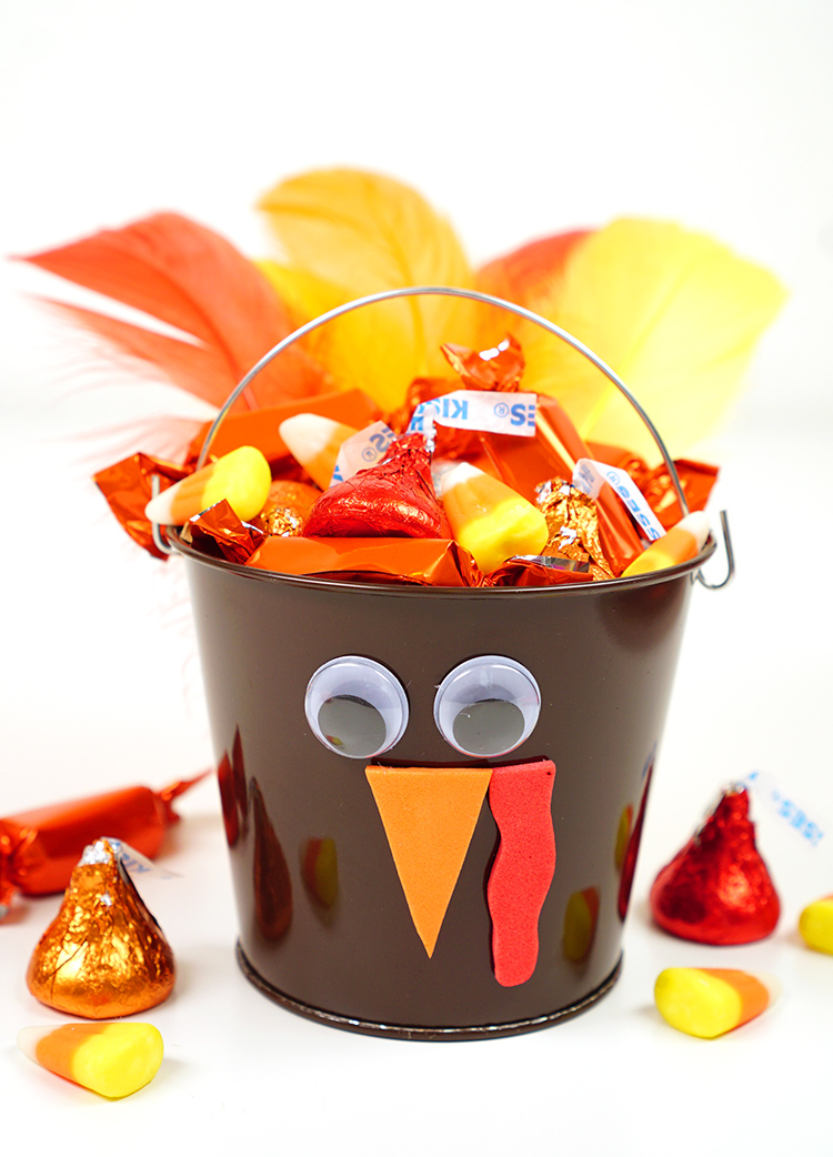 Turkey Treat Buckets: These 25 Thanksgiving Crafts for Kids will get everyone into the thanksgiving spirit.