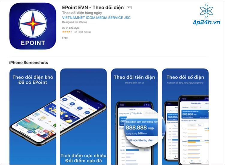 Ứng dụng EVN Epoint hiện đã có trên App Store (iOS) và Play Store (Android)