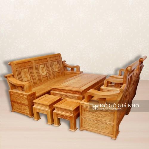 bộ bàn ghế phòng khách đẹp sang trọng theo phong cách tân cổ điển