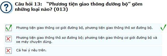 nhung loi mac phai khi thi ly thuyet luat giao thong 013