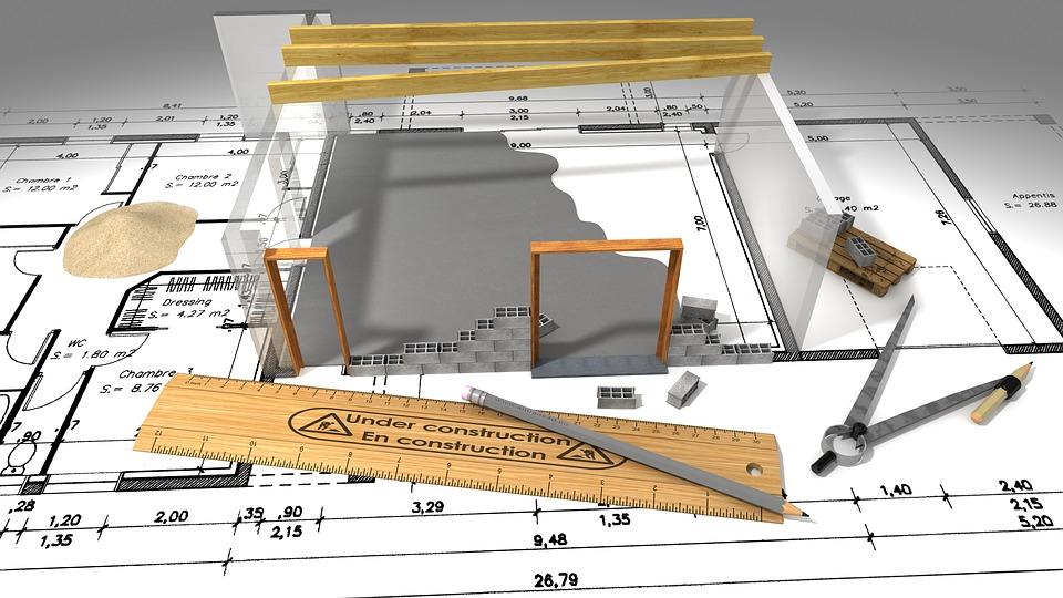 Plan d'un projet immobilier