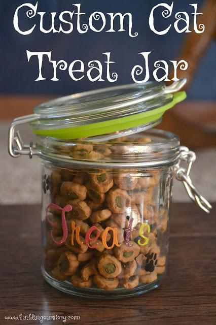 Create the Perfect Cat Treat Jar, DIY cat treat jar, cat treat jar, easy cat treat jar, cat treat container