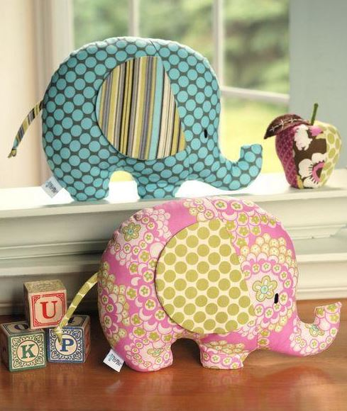 Craftsy - 2 Elephant Softies