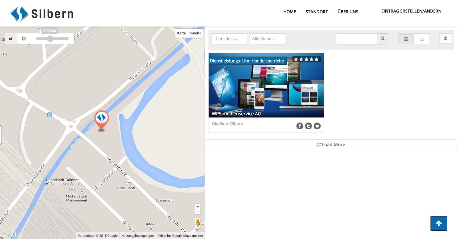 Adresse für den Eintrag auf der Karte
