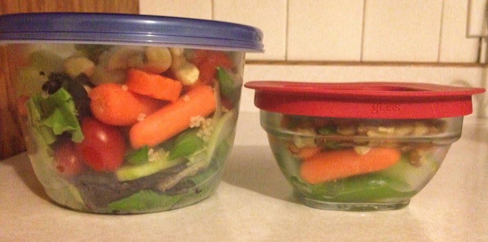 Salad prep for lunch