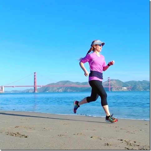 running and eating in San Francisco