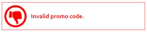 invalid roblox promo codes