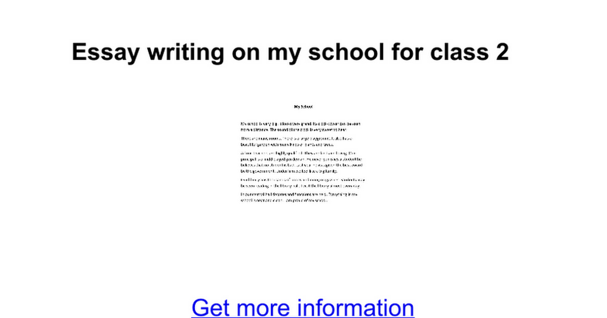 essay writing on my school for class google docs