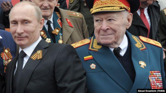 Владимир Путин и Филипп Бобков, 2012 год