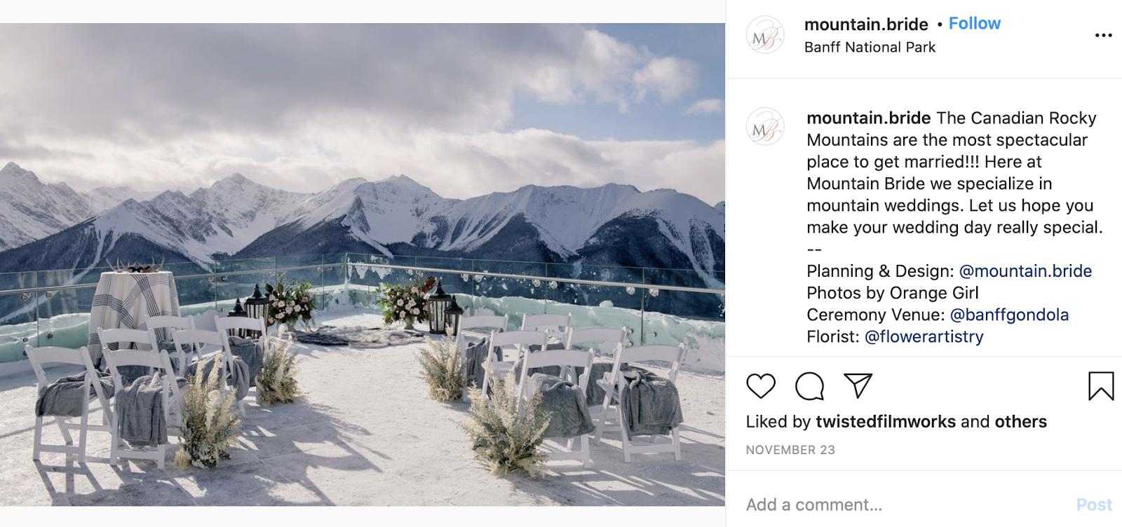 mountain wedding theme