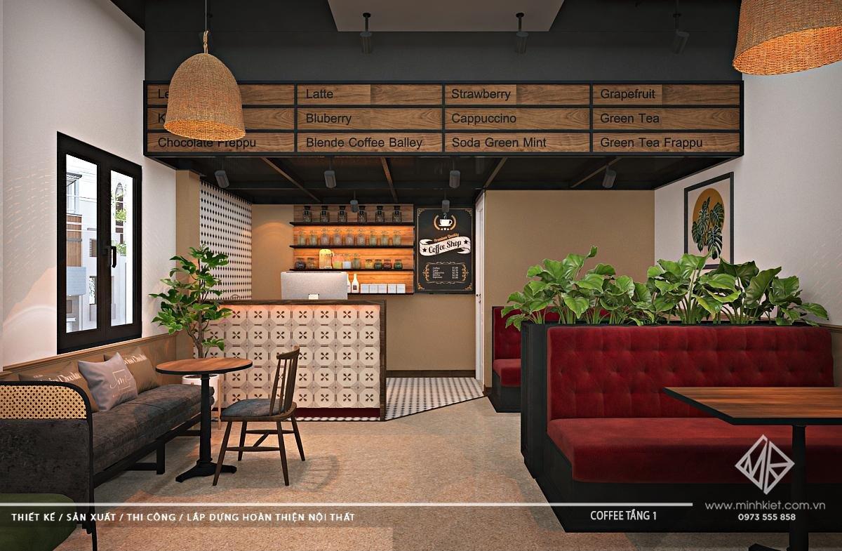 Thiết kế quán cafe 100-300 triệu