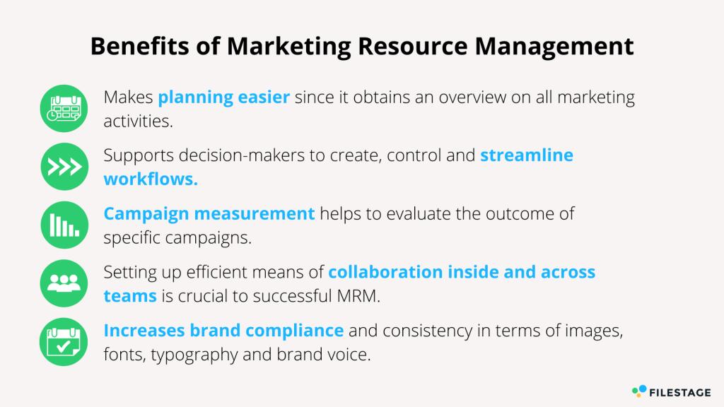 Vorteile des Marketing Resource Management