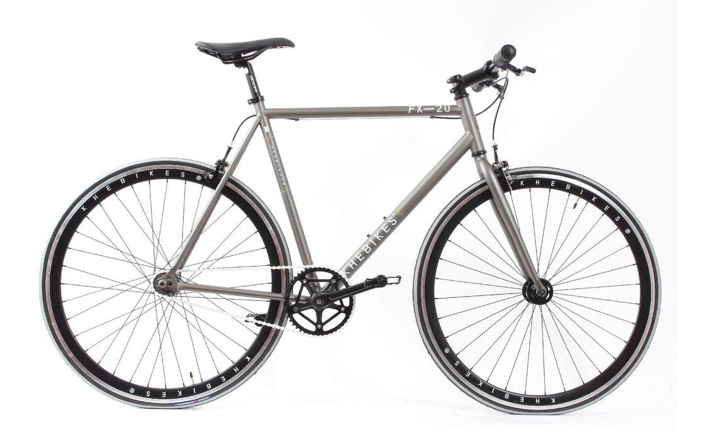 KHE FX 20 Fixie-Bike in grau/silber